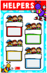Classroom Decoration Class Jobs Helpers Posters