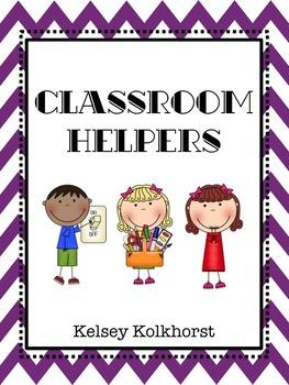 Classroom Helpers- Purple Chevron
