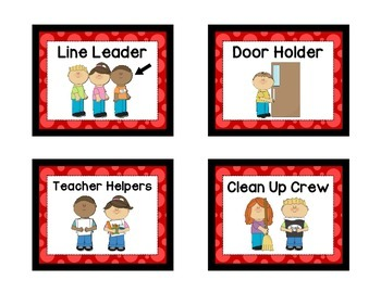 Classroom Helpers - RED