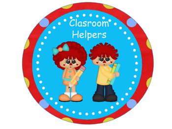 Classroom Helpers - Raggedy Theme