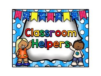 Classroom Helpers Rainbow Theme - ***Also in Spanish!