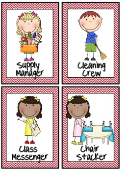 Classroom Helpers: Stylish Cards for Managing Your Jobs