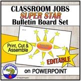 Classroom Jobs Bulletin Board - Super Star Helpers