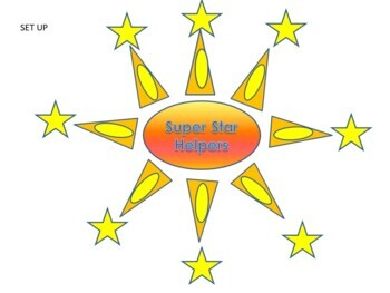 Classroom Jobs Bulletin Board - Super Star Helpers