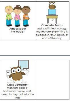 Classroom Helpers (Upper grades)