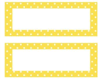 Classroom Helpers Yellow Polka Dot (editable)