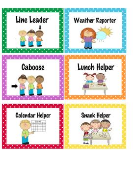Classroom Helpers for Preschool - K