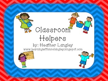Classroom Helpers in Chevron Brights