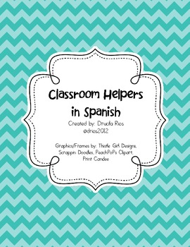 Classroom Helpers in Spanish/English