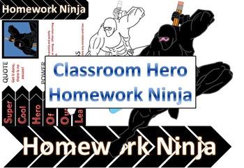 Classroom Hero: Homework Ninja Clipart