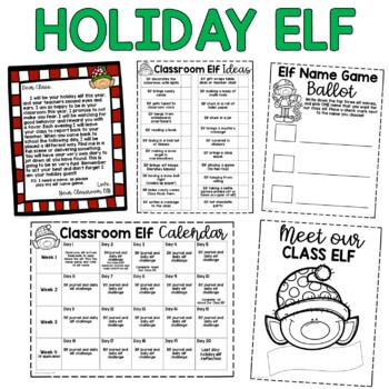 Classroom Holiday Elf