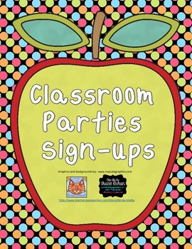 Classroom Holiday Party Sign-ups for Parents Templates