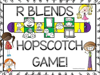 "Phonics Hopscotch Game ""R Blends"" (Blends)"