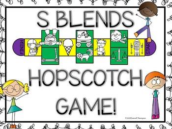 "Phonics Hopscotch Game ""S Blends"" (Blends)"