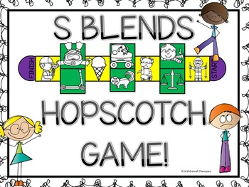 Phonics S Blends (Hopscotch Game)