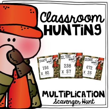 Multiplication Scavenger Hunt {a Task Card Math Game}