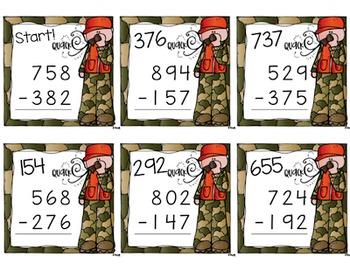 Subtraction Scavenger Hunt {a Task Card Math Game}