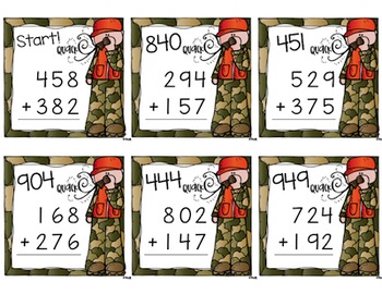 Addition Scavenger Hunt {a Task Card Math Game}