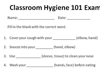Classroom Hygiene 101 Lesson with Exam