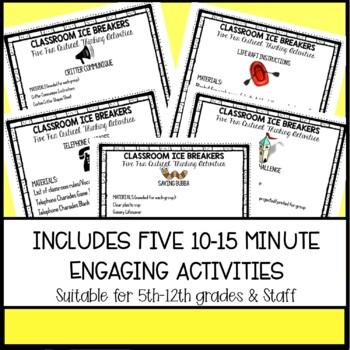 Classroom Ice Breakers: Five Fun Critical Thinking Activities