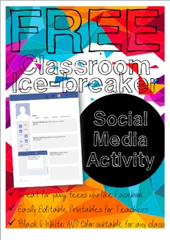 Classroom Icebreaker Activity FREE VERSION First Day Back to School Lesson Plan