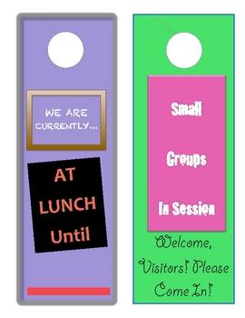 Classroom Idea or Reward- Door Hangers for Class & Student