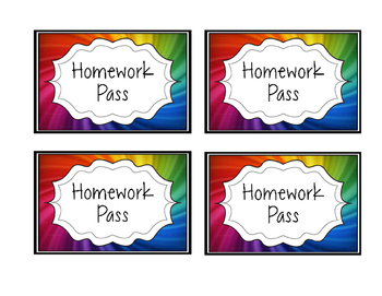 Classroom Incentive or Reward Coupons