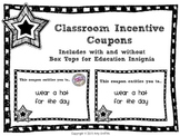 Classroom Incentive Coupons for Box Tops for Education