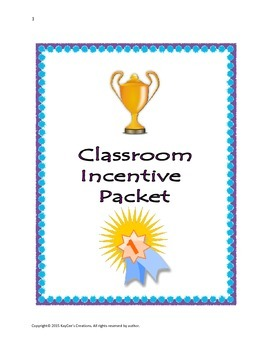Classroom Incentive Packet