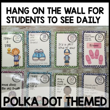 Polka dot Classroom Incentive (turquoise, lime green, purple, hot pink)