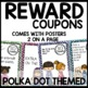 Polka dot Incentive Coupons (turquoise, lime green, purple, hot pink)