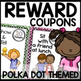 Polka dot Incentive Coupons (turquoise, lime green, purple
