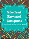 Classroom Incentive Printable Reward Coupons
