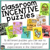Classroom Incentive Puzzles