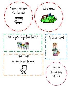 Classroom Incentive Reward Posters