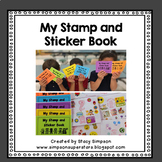 Classroom Incentive: Stamp and Sticker Book Covers (Behavior Management)