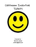Classroom Incentive Tickets