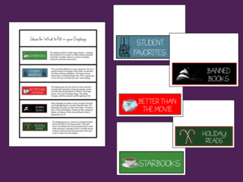 Classroom Independent Reading Library: Genre Labels and Display Headers
