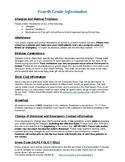 Classroom Information Handout (Meet and Greet, Back to Sch