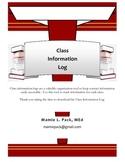 Classroom Information Log