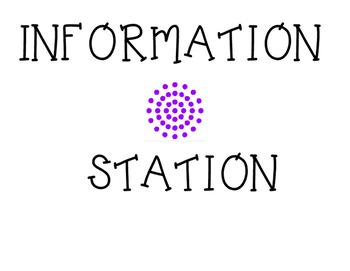 Classroom Information Station Label