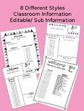 Classroom Information/ Sub Information