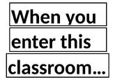 Classroom Inspiration Display