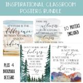Classroom Inspirational Posters BUNDLE Set of 10, Nature-T