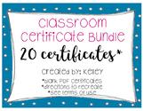 Classroom Certificate Bundle (20 certificates)