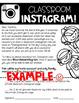Classroom Instagram Parent Letter & Job Application {EDITABLE}