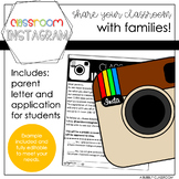 Classroom Instagram Parent Letter & Job Application {EDITABLE}