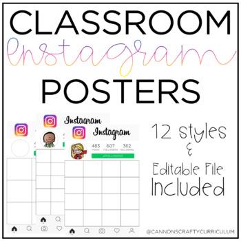 Classroom Instagram Posters