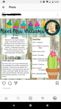 Classroom Instagram Tools and Permission Slip! Everything to get started!