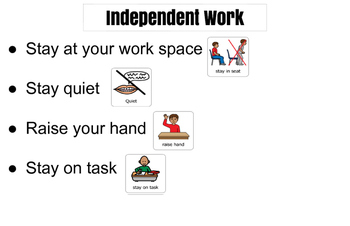 Classroom Instruction Procedures with visuals